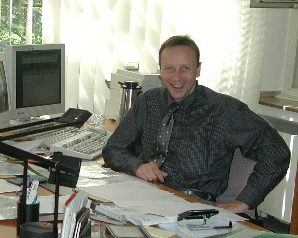 Christoph am Arbeitsplatz